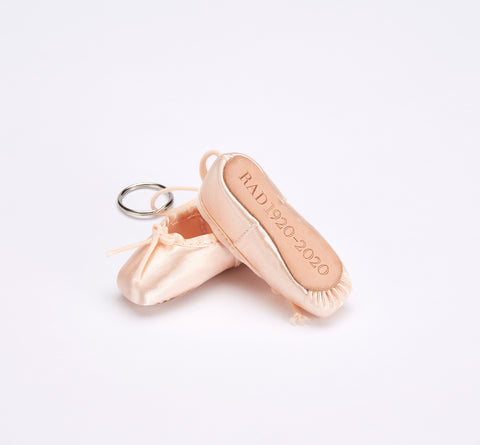 Centenary Miniature Pointe Shoe Keyring