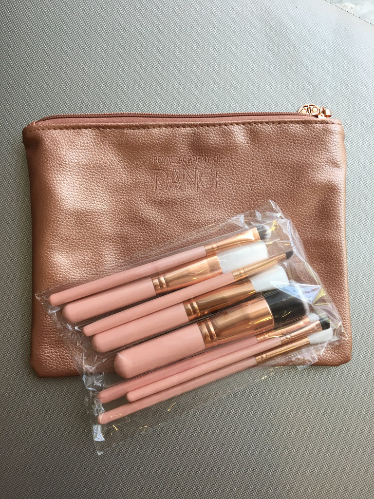 a86bd06d84c RAD Rose Gold Makeup Bag and Cosmetic Brush Set currently ON SALE ...