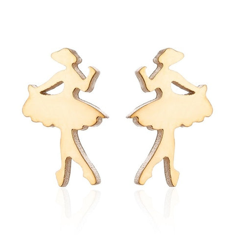 Tiny Ballet Dancer stud earrings