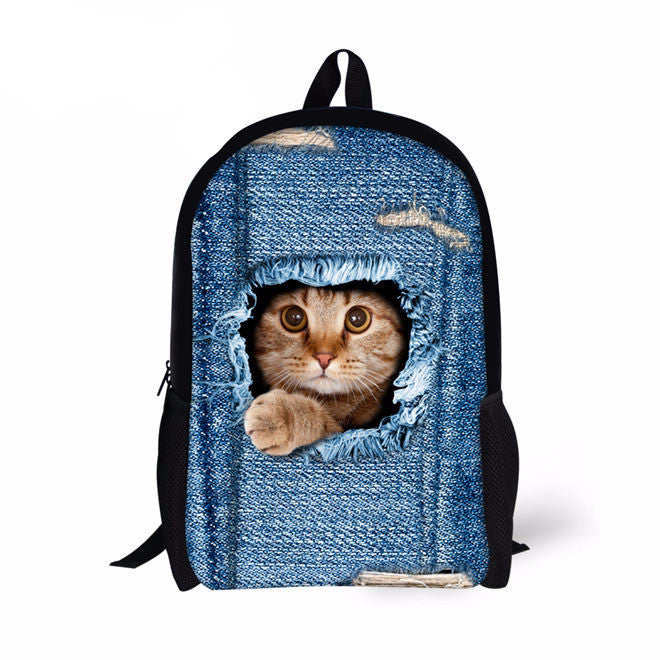 Printed Cats Backpack