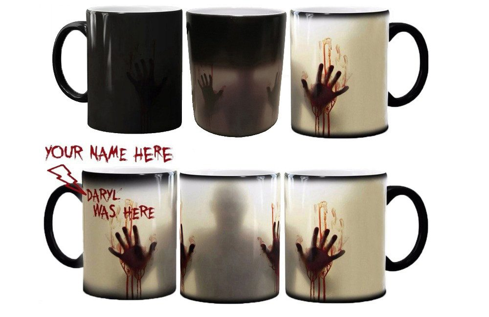 Walking Dead Zombie changing color mug - with your name