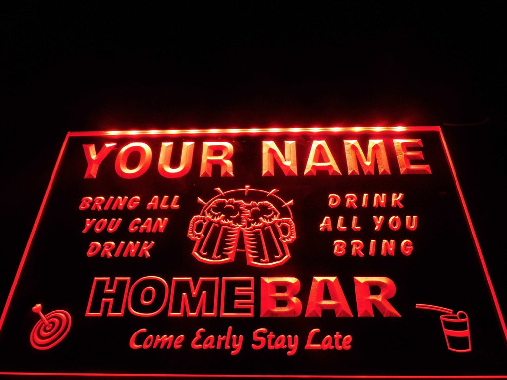 Home Brew Bar - Neon Sign  - Personalized Text