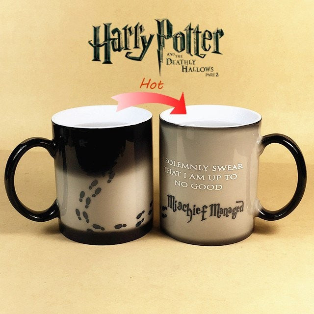 Color Changing Coffee Mug - i am solemnly swear that i am up to no good -mischief managed - Best Fantasy Shop