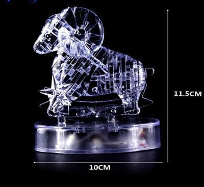 3D Crystal Zodiac Signs With Light