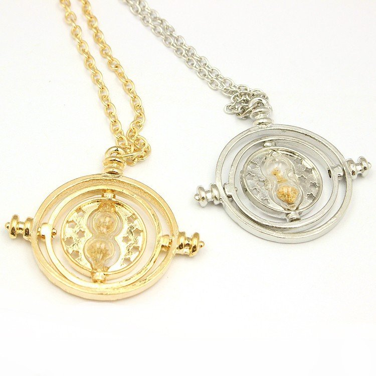 Hermione Rotating Time Turner Gold/Silver Necklace