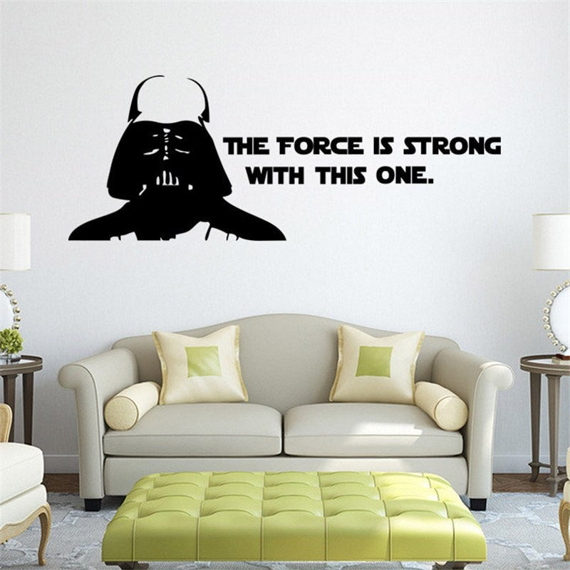The Force Is Strong Wall  Sticker