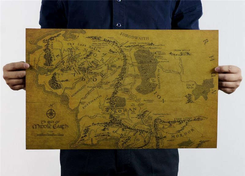 MIDDLE EARTH MAP - Best Fantasy Shop