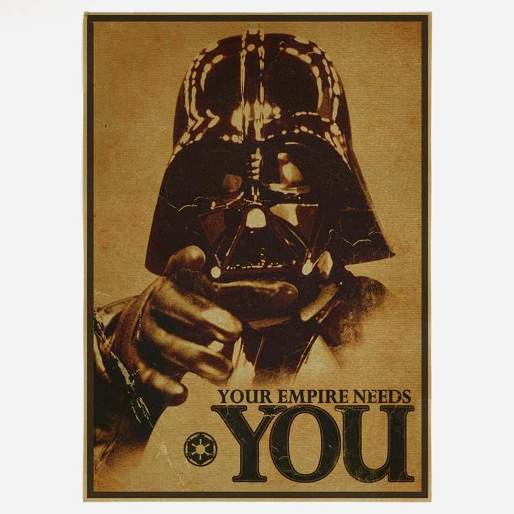 "Star Wars Poster - 16.5"" X 11.8""  Vintage  Style - Best Fantasy Shop"