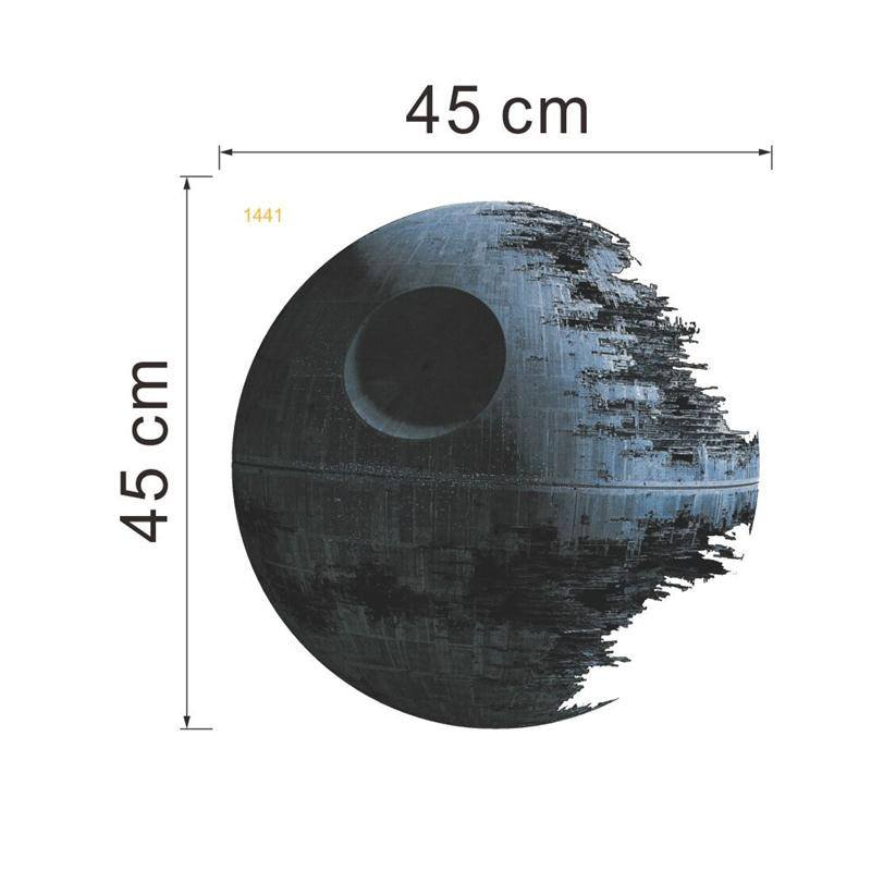 Death Star sticker home decor