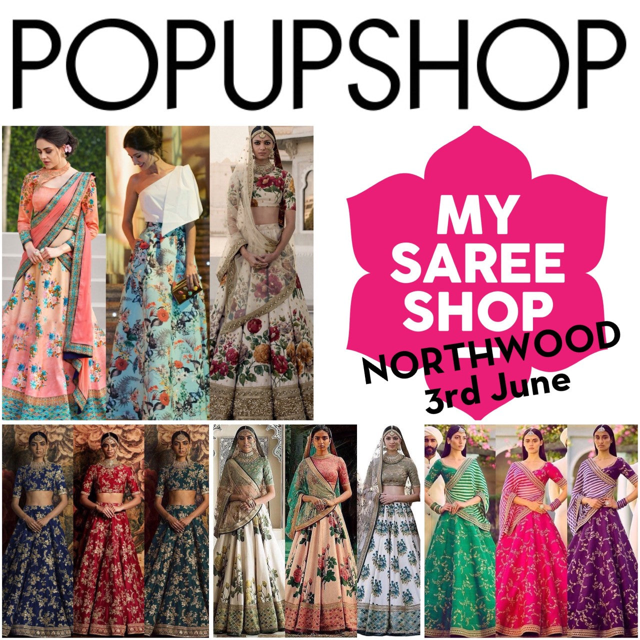 MYSAREESHOP - POPupSHOP - 3rd June - NORTHWOOD