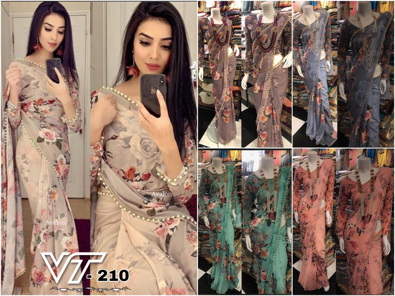 2998 - Floral Printed Saree