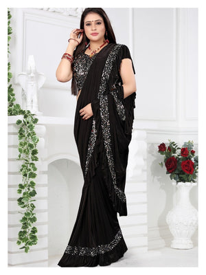 4444 - Ruffle Trim Saree