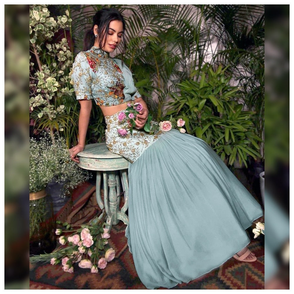 5632 - Crop Top Lehenga Choli (inspired)