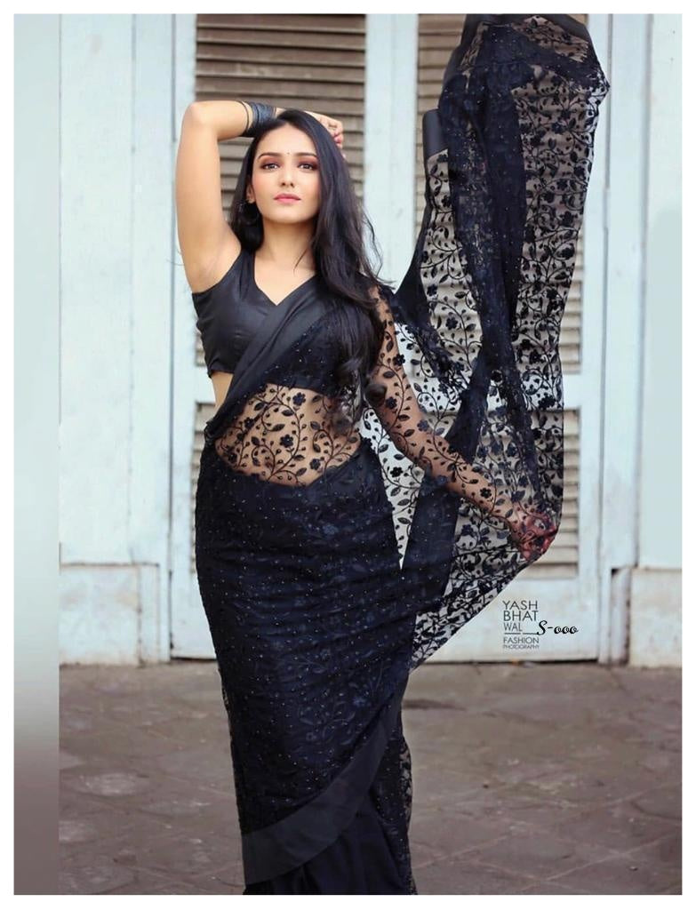 4771 - Fancy Net Saree