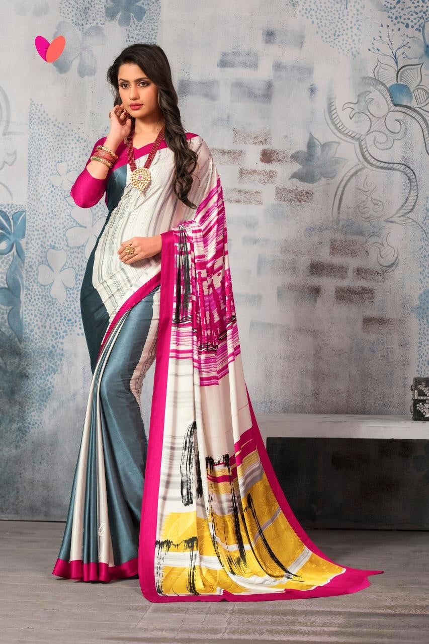 2769 - Japanese Print Silk Saree