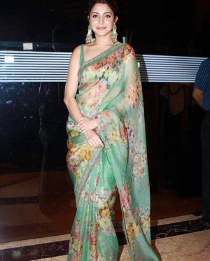 303 - Anushka (inspired) Organza Silk Saree