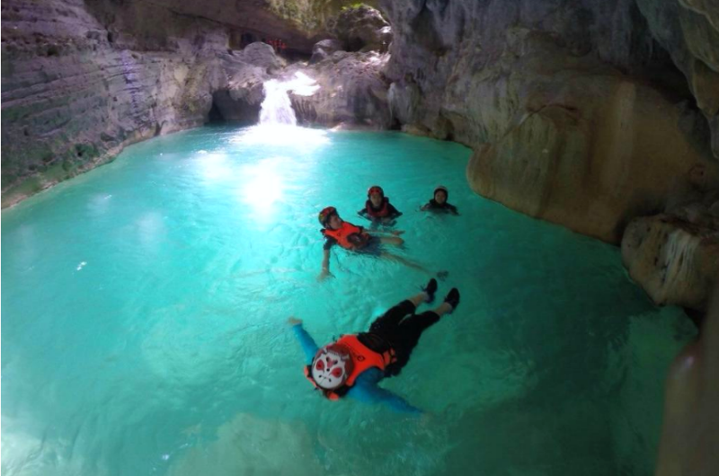 canyoneering in kanlaob river alegria cebu tour sidekicks