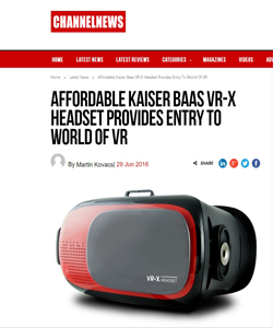Affordable Kaiser Baas VR-X Headset Provides Entry To World Of VR