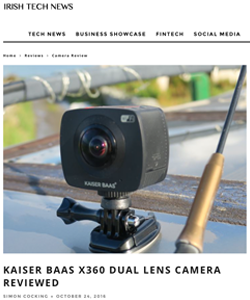 Kaiser Baas X360 Dual Lens Camera Review on Irish Tech News