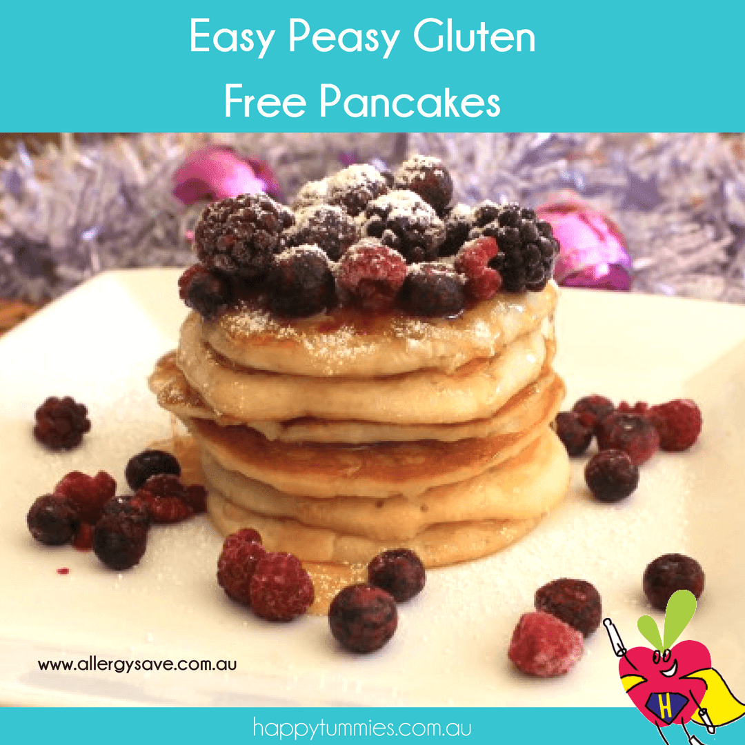 Easy Peasy Gluten Free Pancakes - Allergysave - Happy Tummies