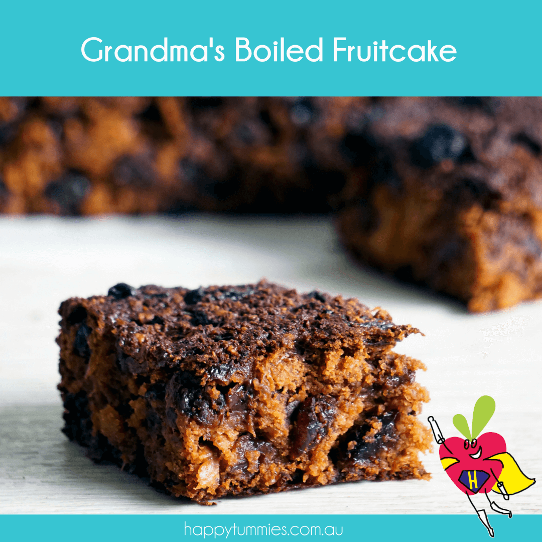 Gluten Free Boiled Fruitcake - Mummy Made.It - Happy Tummies