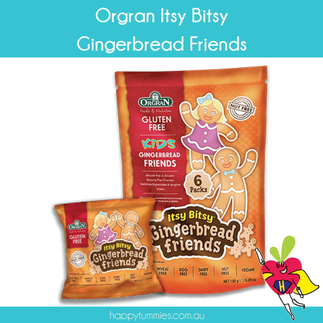 Orgran Itsy Bitsy Gingerbread Friends - Happy Tummies