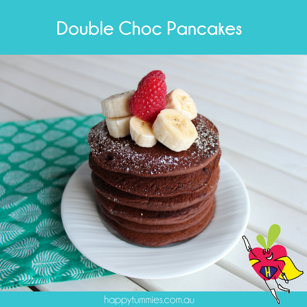 Chocolate Gluten Free Pancakes Recipe - Happy Tummies