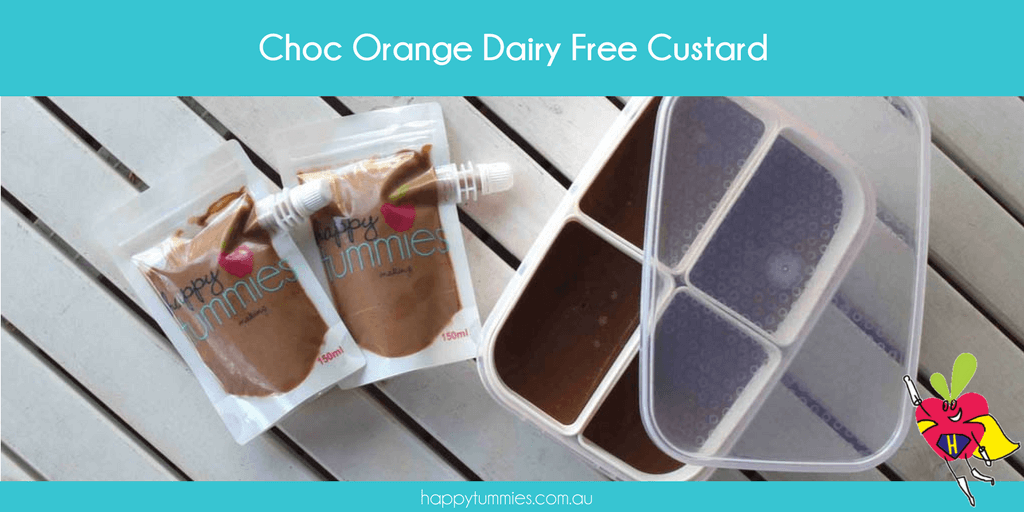 Chocolate Orange Dairy and Gluten Free Custard - Happy Tummies