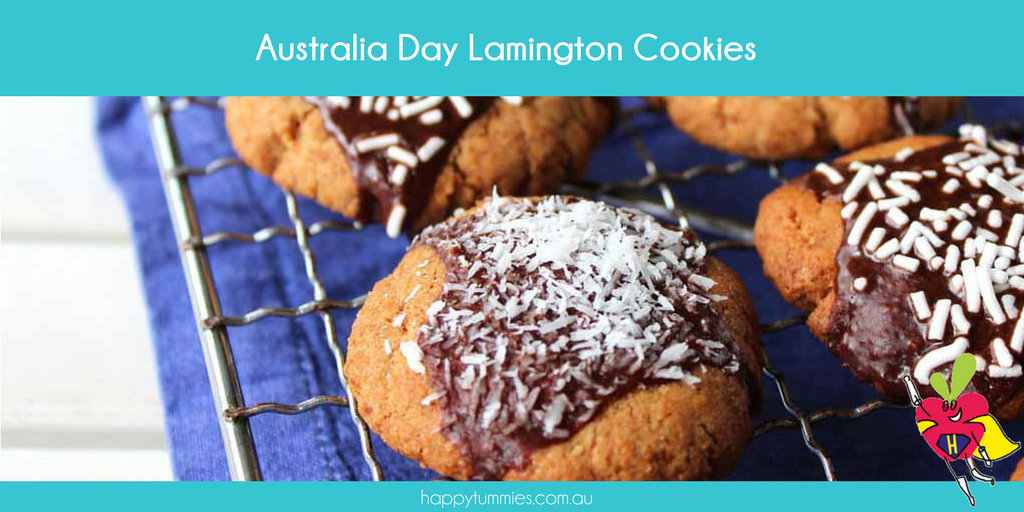 Australia Day Gluten Free Lamington Biscuits - Happy Tummies