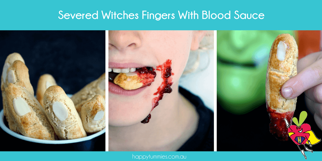 Gluten Free Severed Witches Fingers Biscuit Recipe - Mummy Made.It - Happy Tummies