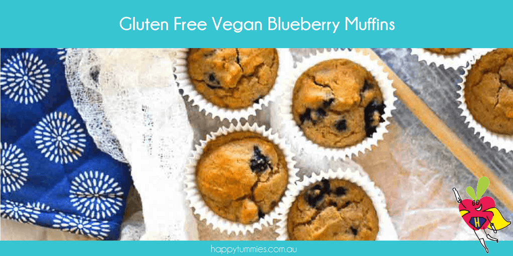 Gluten Free Vegan Blueberry Muffins - Happy Tummies