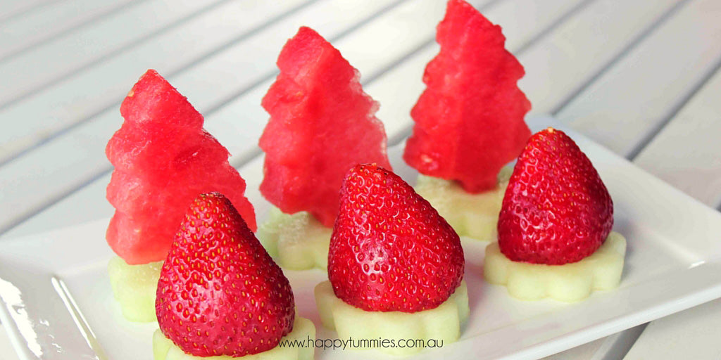 Healthy Christmas Food Santa Hats And Trees - Happy Tummies