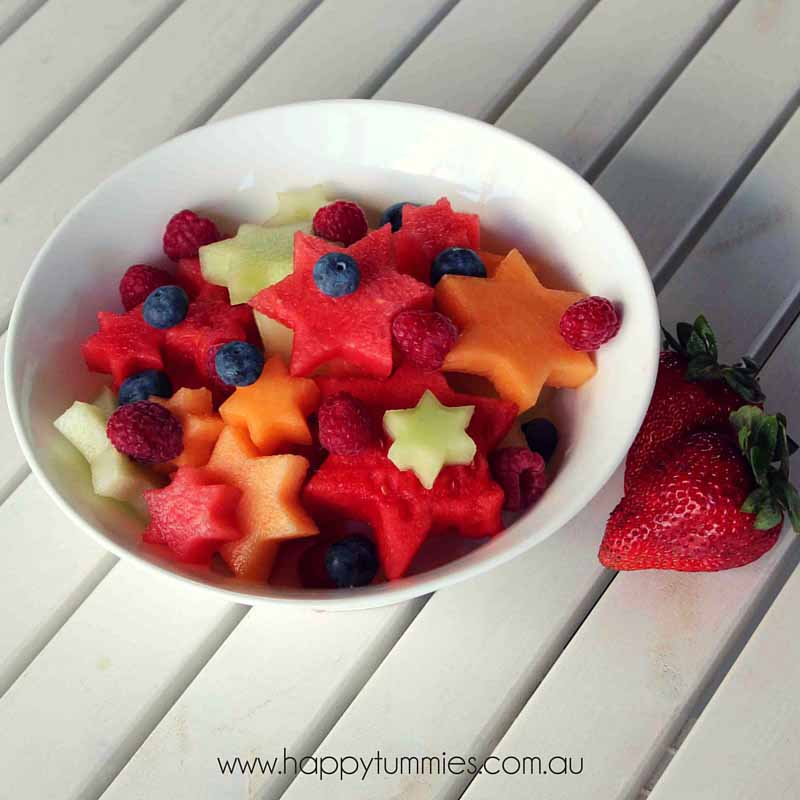 Healthy Christmas Food - Christmas Fruit Salad - Happy Tummies
