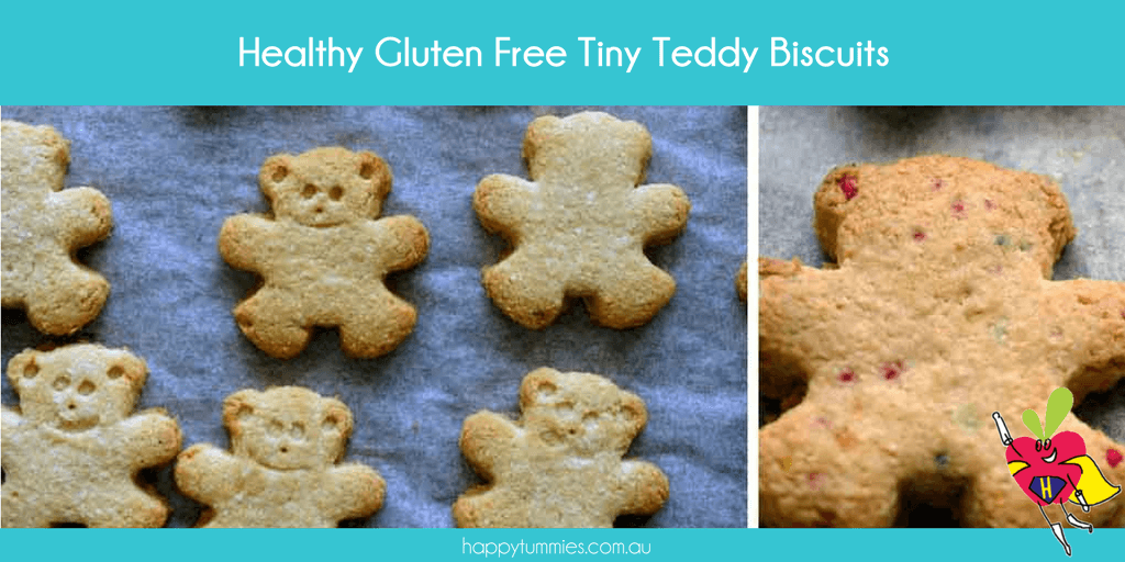 Healthy Gluten Free Tiny Teddy Biscuits Recipe - Mummy Made.It - Happy Tummies