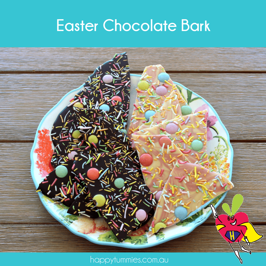 Easter Vegan Chocolate Bark - Happy Tummies