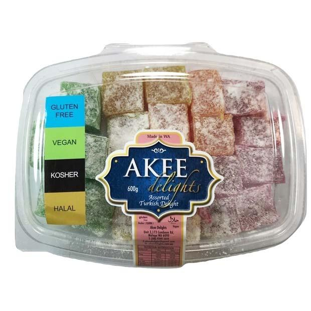 Akee Delights Assorted Turkish Delight 600g - Happy Tummies
