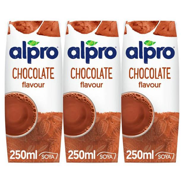 Alpro Soy Milk Drink Chocolate 3 x 250mls