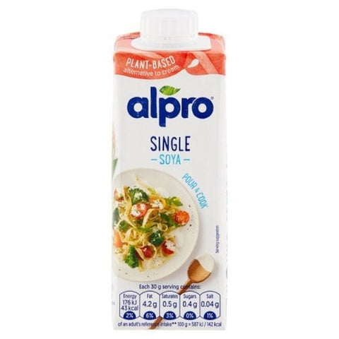 Alpro Soya Single Cream 240ml - Happy Tummies