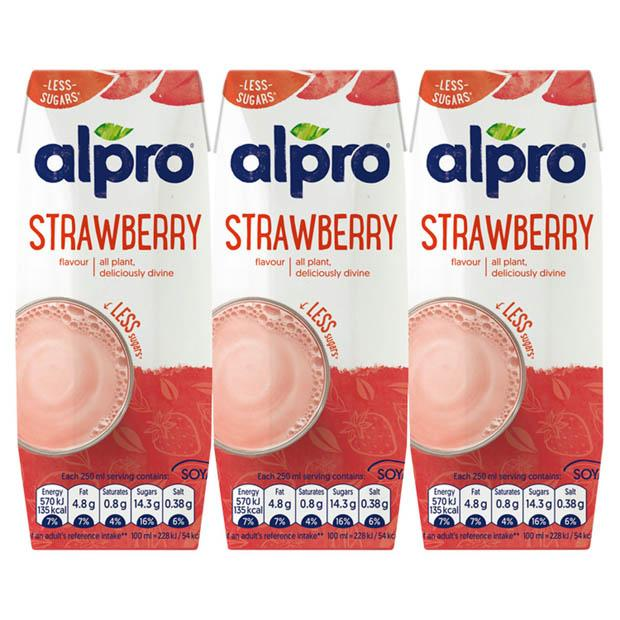 Alpro Soy Milk Drink Strawberry 3 x 250mls