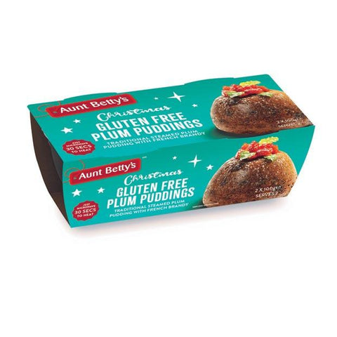 Aunt Betty's Gluten Free Christmas Plum Pudding 2 x 100g