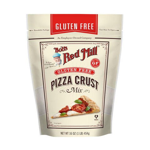 Bobs Red Mill Gluten Free Pizza Crust Whole Grain Mix 453g - Happy Tummies