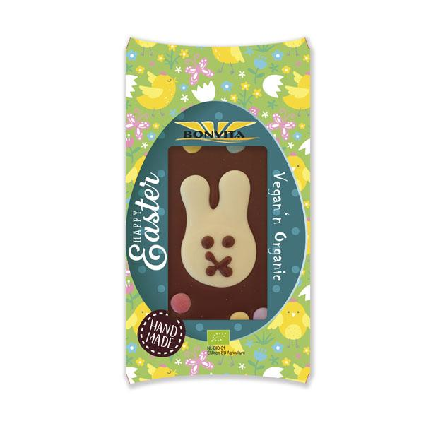 Bonvita Organic Easter Chocolate Bar with White Bunny & Choc Buttons 100g