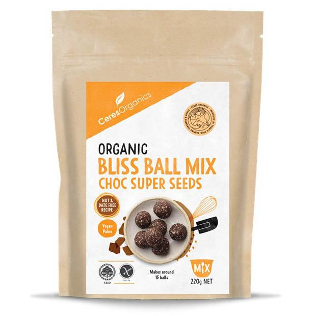 Ceres Organics Bliss Ball Mix Choc Super Seeds 220g - Happy Tummies