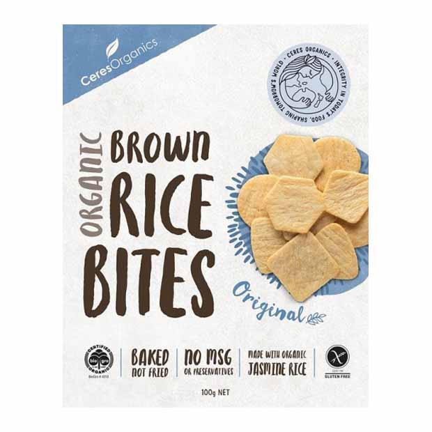 Ceres Organics Brown Rice Bites Original 100g - Happy Tummies