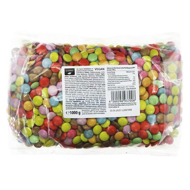 Clarana Vegan Candy Coated Chocolate Buttons 1kg