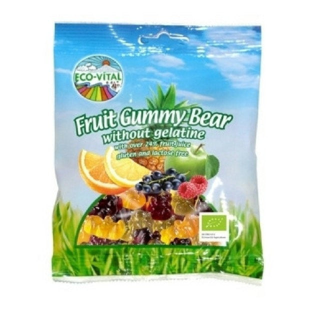 Eco-Vital Fruity Gummy Bears 100g - Happy Tummies