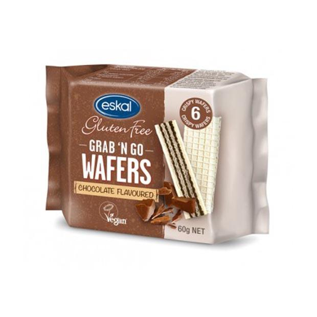 Eskal Grab & Go Wafer Biscuits Chocolate 60g - Happy Tummies