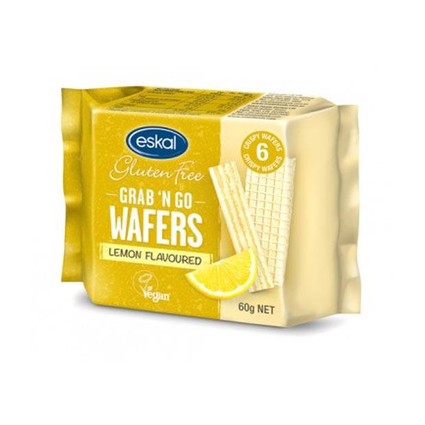 Eskal Grab & Go Wafer Biscuits Lemon 60g - Happy Tummies