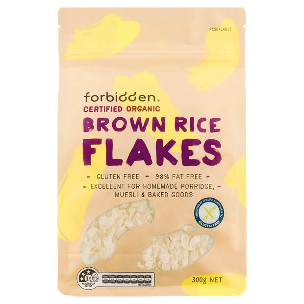 Forbidden Organic Brown Rice Flakes 300g