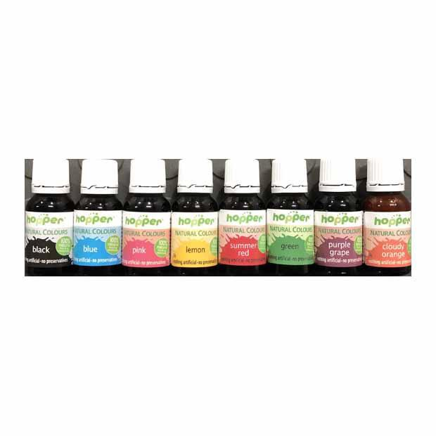 Hopper Natural Food Coloring 8 Pack | cake decorations - Happy ...